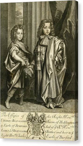 Charles Beauclerk, First Duke Of St Canvas Print by Mary Evans Picture Library