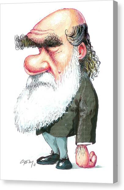 Controversial Canvas Print - Charles Darwin by Gary Brown