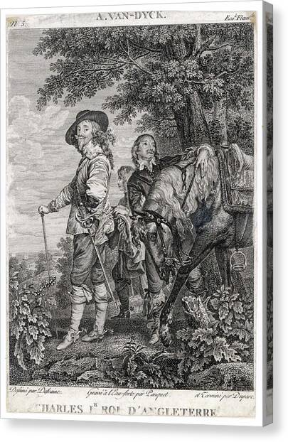Charles I Of England          Date 1600 Canvas Print by Mary Evans Picture Library