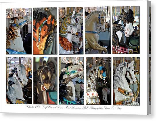 Charles Looff Carousel Ponies Canvas Print