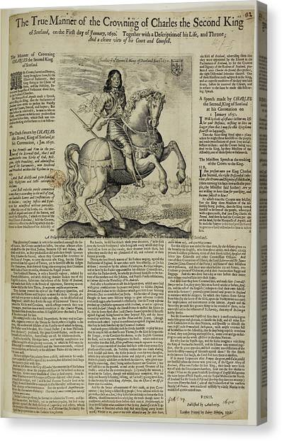 The Crown Canvas Print - Charles II by British Library