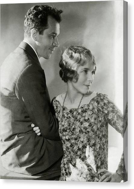Charles Macarthur And Helen Hayes Canvas Print by Edward Steichen