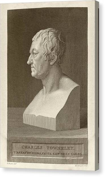 The British Museum Canvas Print - Charles Townley by Middle Temple Library