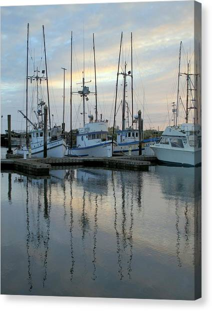 Charleston Boats Canvas Print