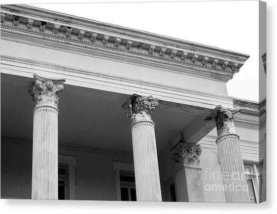 Charleston Columns Canvas Print by Manda Renee