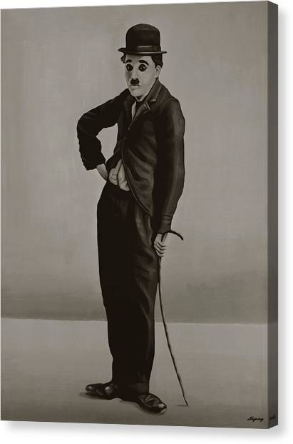 Limelight Canvas Print - Charlie Chaplin Painting by Paul Meijering