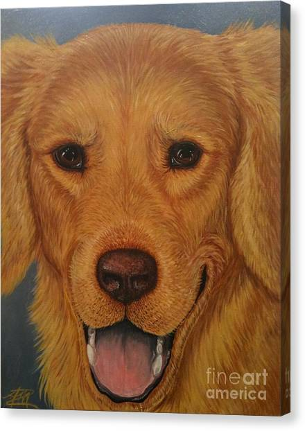 Charlie Golden Canvas Print