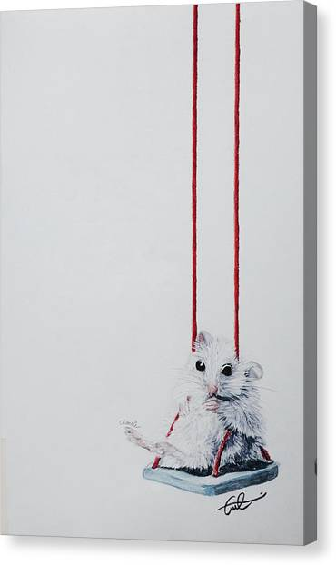 Charlie The Mouse Canvas Print