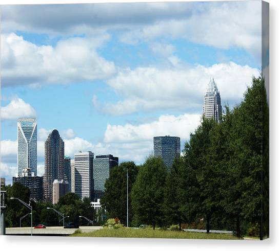 Charlotte Bobcats Canvas Print - Charlotte by B Wayne Mullins