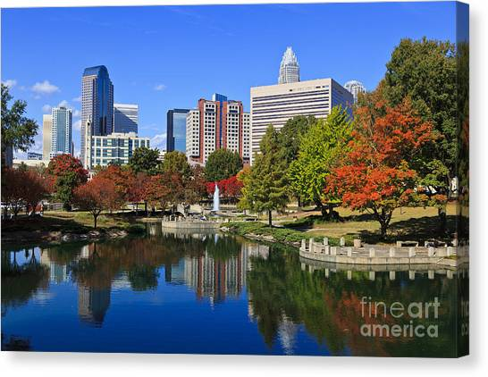 Charlotte North Carolina Marshall Park Canvas Print