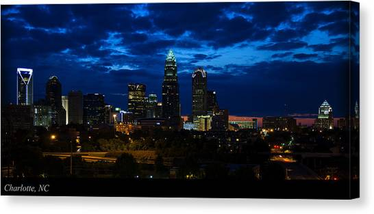 Charlotte North Carolina Panoramic Image Canvas Print