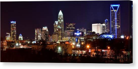Charlotte Bobcats Canvas Print - Charlotte Panoramic  by Frozen in Time Fine Art Photography
