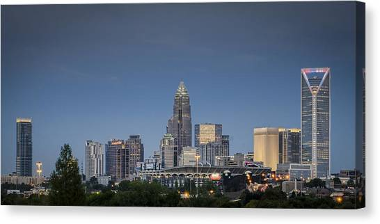 Charlotte Skyline Clear Evening Photograph By Brian Young