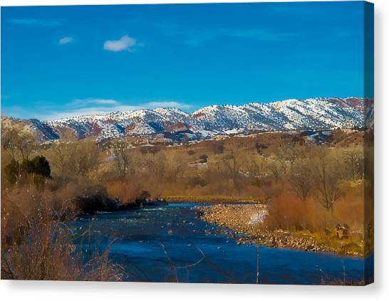 Charma River Canvas Print by Lou  Novick