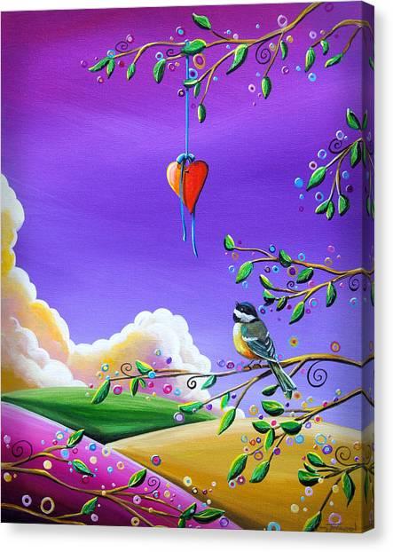 Chickadees Canvas Print - Cherish by Cindy Thornton