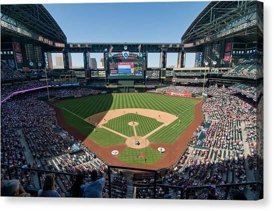 Arizona Diamondbacks Canvas Print - Chase Field by Mark Whitt