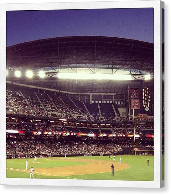 Rattlesnakes Canvas Print - Chase Field by Ryan Hoffman