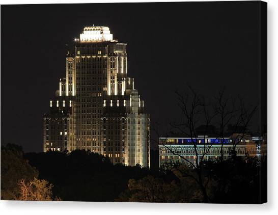 Chase Park Plaza From Art Hill Canvas Print