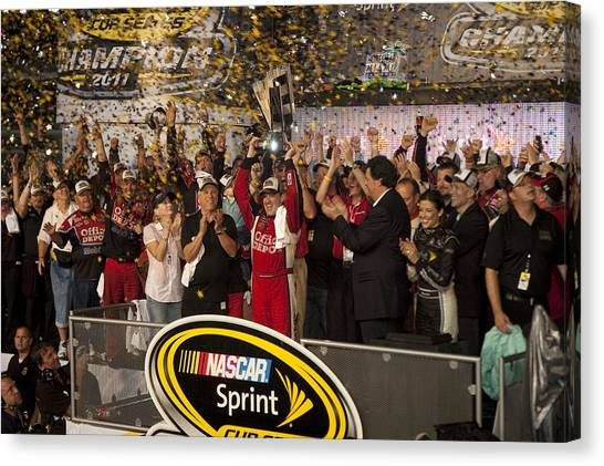 Tony Stewart Canvas Print - Chase Winner by Kevin Cable