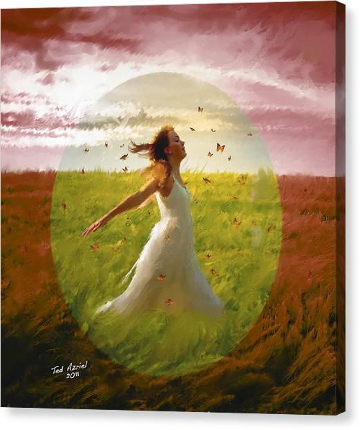 Chasing Butterflies Canvas Print