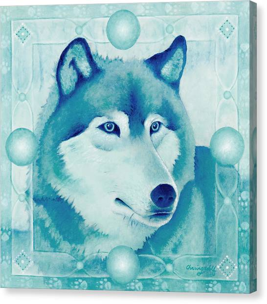 Chasing Wolf Canvas Print