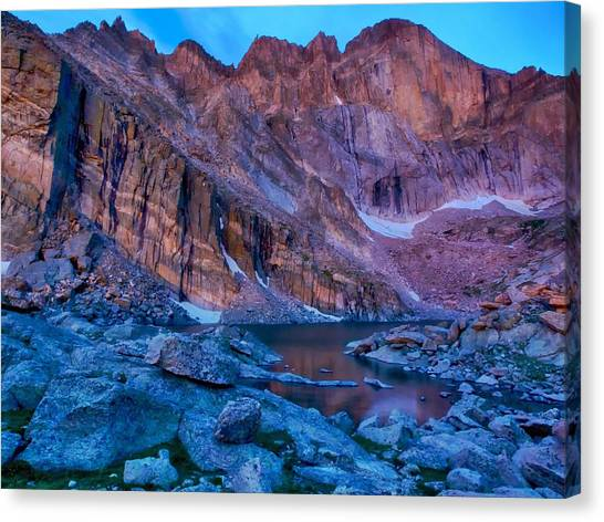 Chasm Lake Gold Canvas Print