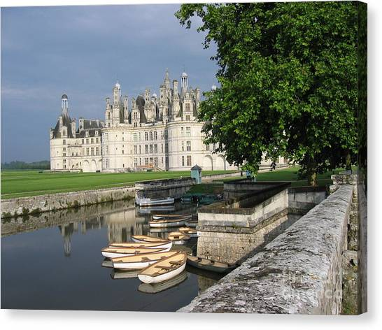 Chateau Chambord Boating Canvas Print