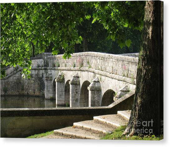 Chateau Chambord Bridge Canvas Print