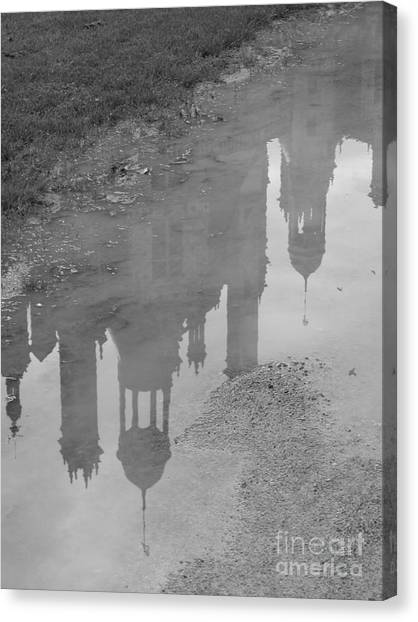 Chateau Chambord Reflection Canvas Print