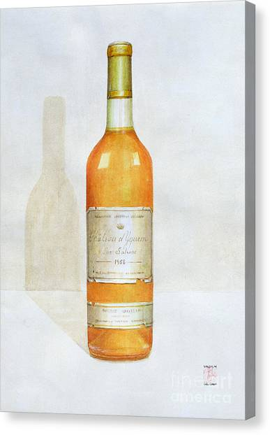 Cellar Canvas Print - Chateau D Yquem by Lincoln Seligman