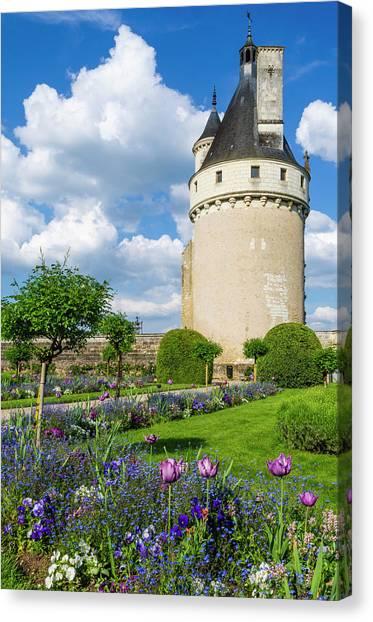 Chenonceau Castle Canvas Print - Chateau De Chenonceau, Chenonceaux by Russ Bishop