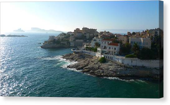 Chateau D'if Bay Of Marseille Canvas Print