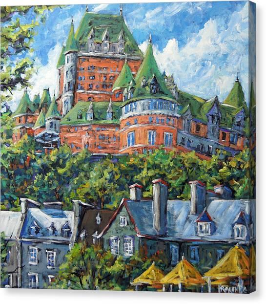 Poppys Canvas Print - Chateau Frontenac By Prankearts by Richard T Pranke