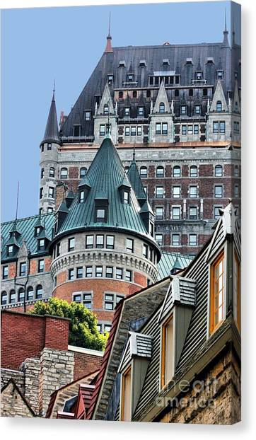 Chateau Frontenac Quebec Canada Canvas Print