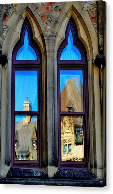 Chateau Laurier - Parlaiment Window - Reflection # 1 Canvas Print
