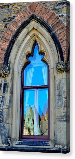 Chateau Laurier - Parlaiment Window - Reflection # 5 Canvas Print