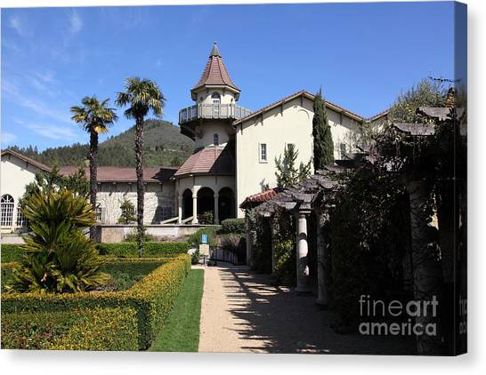 Chateau St. Jean Winery 5d22199 Canvas Print by Wingsdomain Art and Photography