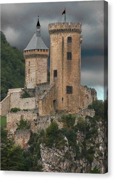 Chateau Tower Colour Canvas Print