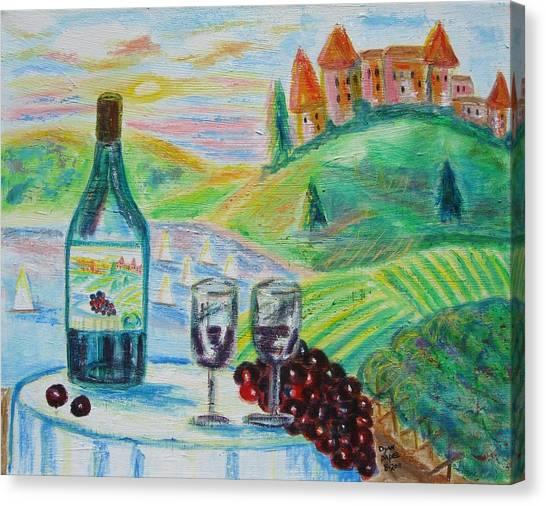 Chateau Wine Canvas Print
