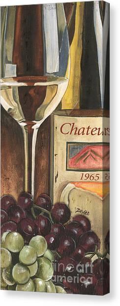 White Wine Canvas Print - Chateux 1965 by Debbie DeWitt