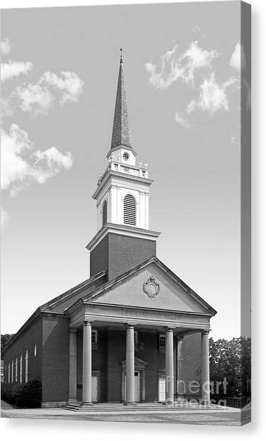 Chatham Canvas Print - Chatham University Campbell Memorial Chapel by University Icons
