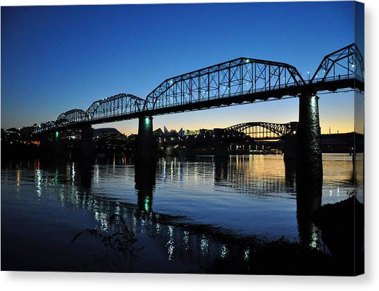 Tennessee River Bridges Chattanooga Canvas Print