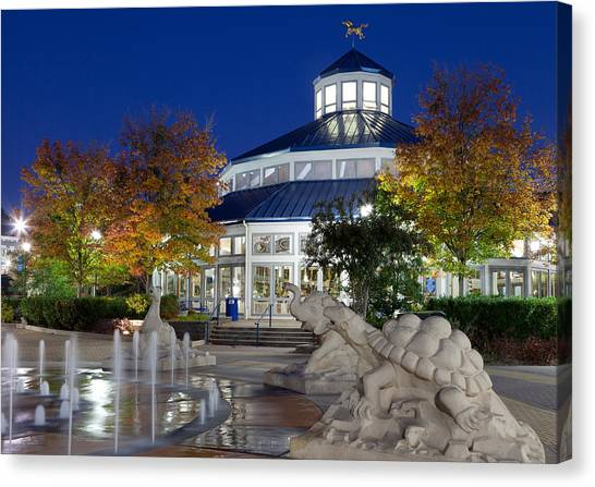 Chattanooga Park At Night Canvas Print