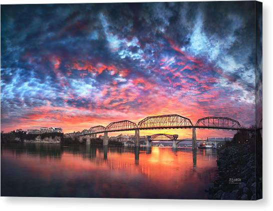 Chattanooga Sunset 4 Canvas Print