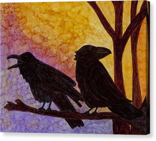 Chatter What Canvas Print by Jennifer Fielder