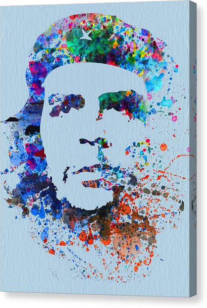Cuban Canvas Print - Che Guevara Watercolor by Naxart Studio