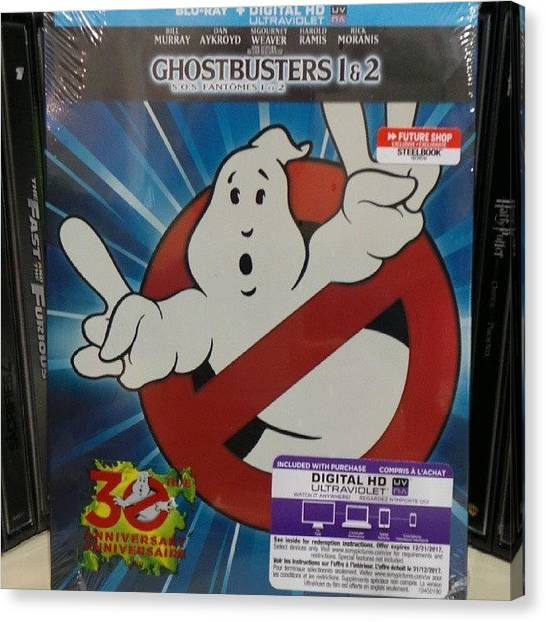 Ghostbusters Canvas Print - Check Out All The Glossy Glory Of The by Andrew Poirier