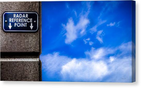Reference Canvas Print - Check Your  Radar Here by Bob Orsillo