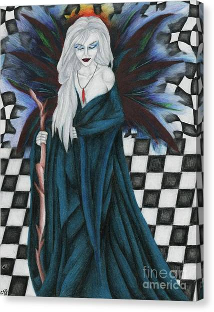 Checkerboard Sorcery Canvas Print by Coriander  Shea