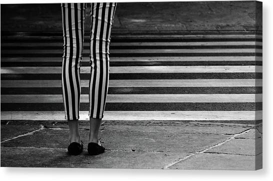 Legs Canvas Print - Checkered by Anna Niemiec
